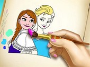 Elsa ve Anna Boyama