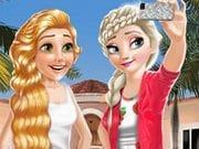 Elsa ve Rapunzel Giydirme
