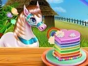 Pony Gökküşağı Pastası