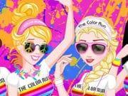 Prensesler Renkli Giysiler